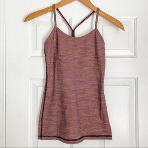 Lululemon Power Y Tank w/ Purple Knit Print